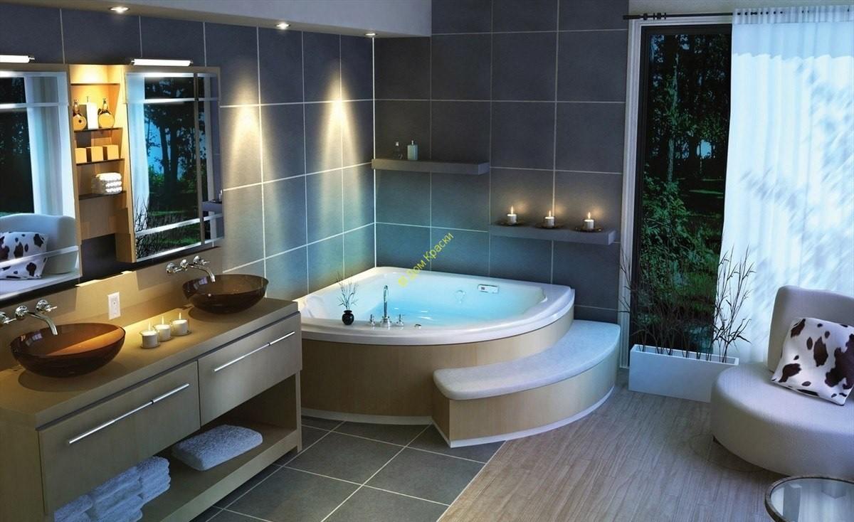 дизайн интерьера квартиры в современном стиле_ванная